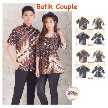 25 Model Baju Batik Couple Modis Terbaru 2019 Top Mode