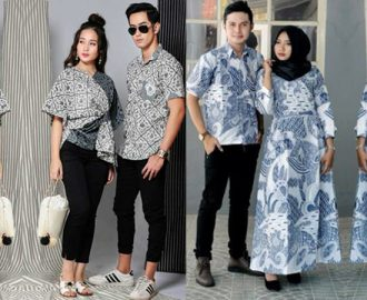 25+ Model Baju Batik Couple Modis