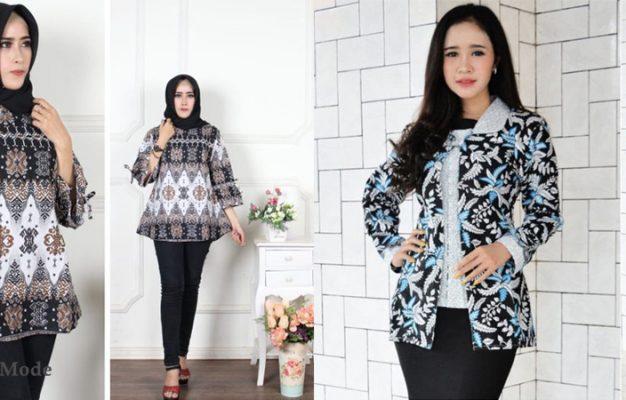 42 Model Blus Batik Modern Cantik