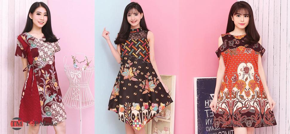 27+ Model Dress Batik Modern Terbaru