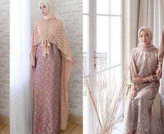 35+ Model Baju Gamis Brokat Cantik