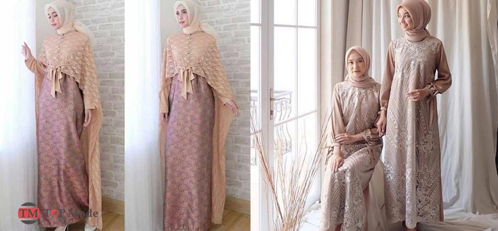 55 Model Baju Gamis Brokat Cantik Terbaru 2020 Muda Co Id