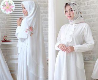 35+ Model Baju Gamis Putih Terbaik