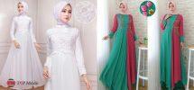 25+ Model Baju Gamis Sifon Modern