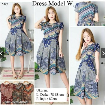 27 Model Dress Batik Modern Terbaru 2019 Top Mode