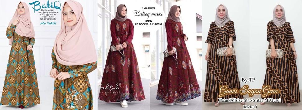 Tips Belanja Baju Muslim Batik Modern