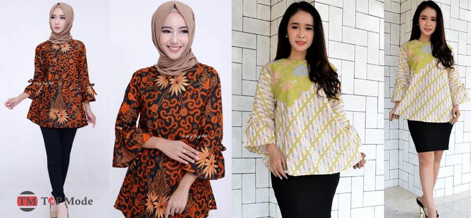 29+ Model Baju Batik Kerja Trendy