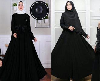 33+ Model Baju Gamis Hitam Terbaru