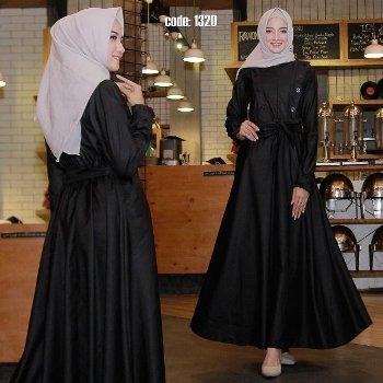 33 Model Baju Gamis Hitam Cantik Terbaru Muda Co Id