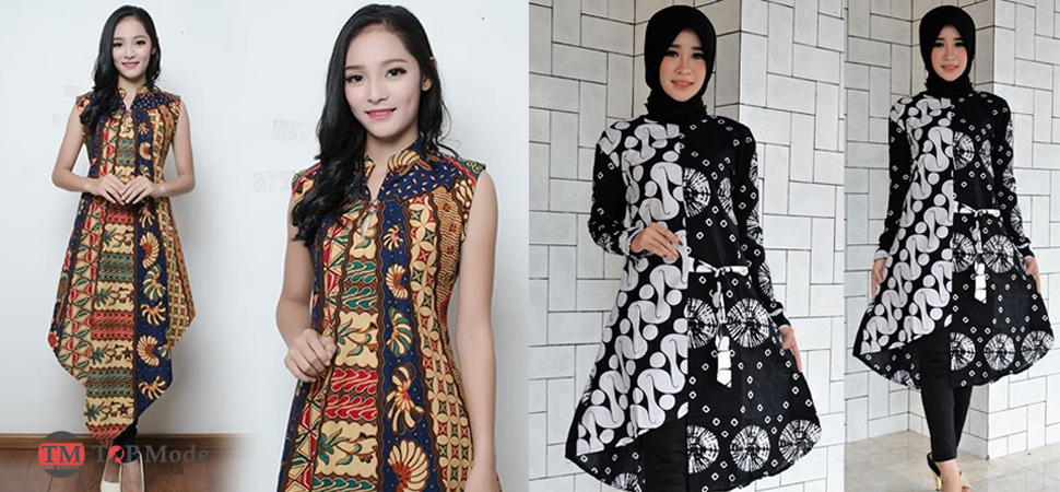 34 Model Baju Tunik Batik Stylish Top Mode