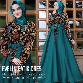 55 Model Baju Gamis Batik Cantik Terbaru Muda Co Id