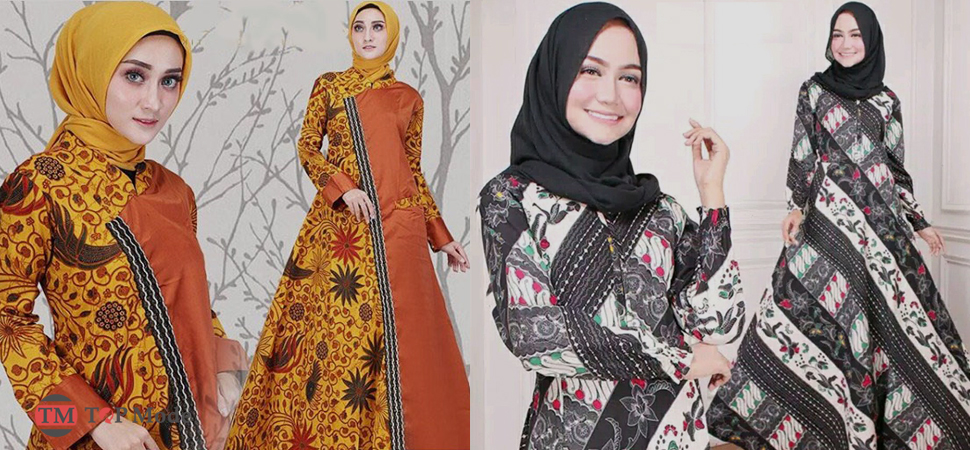 31+ Model Baju Gamis Batik Terbaru